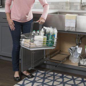 Kitchen Cabinet Organization Under Sink Caddy