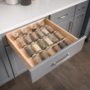 Kitchen Cabinet Organization Spice Storage